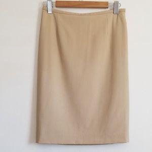 Giorgio Armani Vestimente Spa Nude Pencil Skirt